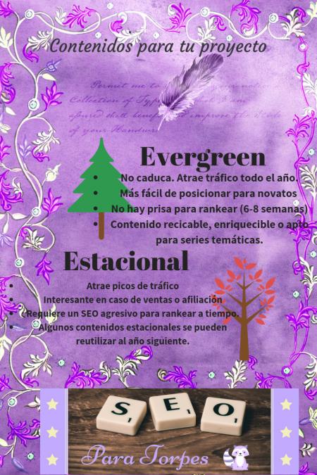 tematicas evergreen vs estacionales