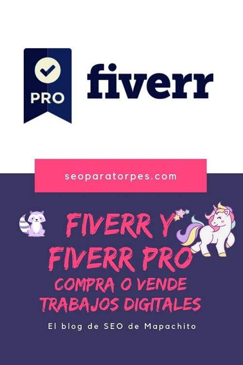 fiverr y fiverr pro recomendaciones para webmasters